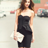 Strapless Peplum Dress | FOREVER21 - 2000041415