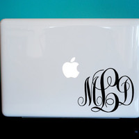Monogram Laptop, iPad, Car Vinyl Decal PERSONALIZED