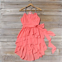 Sweet Ruffles Dress in Watermelon, Sweet Women&#x27;s Bohemian Clothing