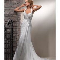 Maggie Sottero Spring 2013 - Bridget Diamond White Revina Chiffon Wedding Dress - Unique Vintage - Prom dresses, retro dresses, retro swimsuits.