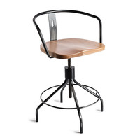 Sputnik Low-Back ChairGunmetal/Natural - Environment