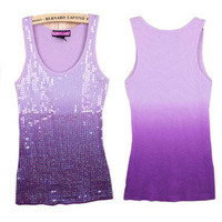 Cultivate one's morality sequins candy color strap h vest