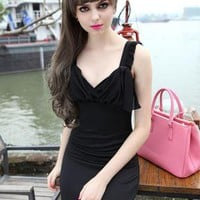 Chiffon Strapless Slim Dress FF018