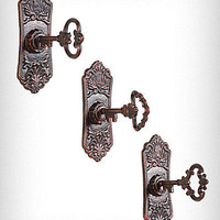 Cast Iron Key in Lock Wall Hooks Set | PLASTICLAND