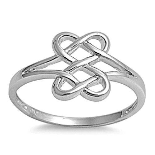 sterling silver ring size 8 celtic knot from bladesbling