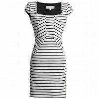 Bqueen Knit Striped Dress White FK006B - Sex and the City - Celebrity Dresses - Apparel