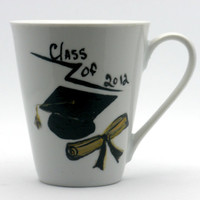 Hand painted 2012 Graduation Cup by PaintedDesignsByLona on Etsy
