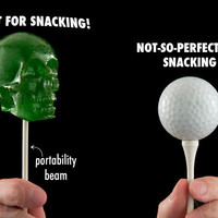 Gummy Skull on a Stick: Delicious candy craniums