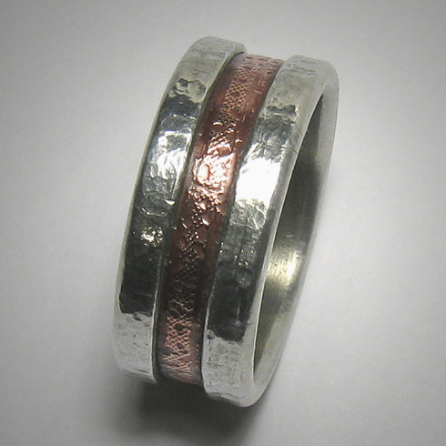 Rustic Wedding Band For Men Or Women
