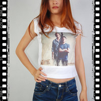 New Winchester Supernatural Sam & Dean Indie Punk Rock Vintage Crop Women Tank Top Vest Singlet T-shirt S M L