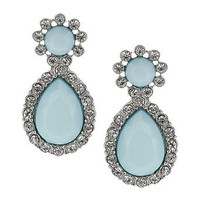 Pale blue stone drop earrings - Earrings - Fashion Jewelry  - Accessories