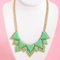 Neck's Best Thing Mint Green Statement Necklace