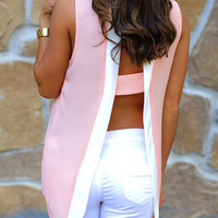 RESTOCK Take A Peek Tank: Pink/White | Hope&#x27;s