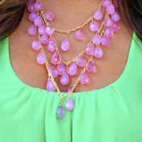 Tears of Joy Necklace: Baby Pink | Hope's