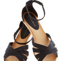 Gondola with the Wind Sandal in Black | Mod Retro Vintage Sandals | ModCloth.com