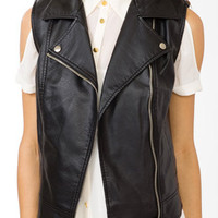 Faux Leather Moto Vest | FOREVER 21 - 2043445481