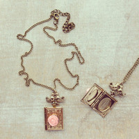 Pree Brulee - Rose Book Love Pendant Necklace