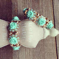 Pree Brulee - Mint Rose Princess Bracelet