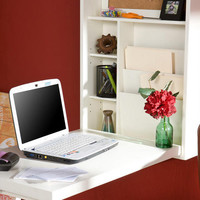 White Alden Foldout Convertible Desk | World Market