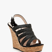A'GACI Nemo 3 PU Braid Strappy Cork Wedge - BEST SELLERS