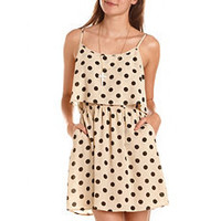 Ruffle Bust Polka Dot Dress: Charlotte Russe