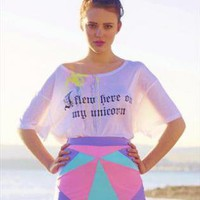 Unicorn Cropped Tee