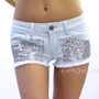 Betty Jean Glitter Sequin Shorts