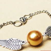 Golden Snitch Bracelet In Silver Steampunk  Golden by qizhouhuang