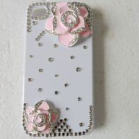 beautiful rhinestone rose Hard Case Cover by jewelrybraceletcuff