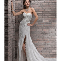 SAMPLE SALE - Maggie Sottero Spring 2013 - Myra Ivory Lace Wedding Dress - Unique Vintage - Prom dresses, retro dresses, retro swimsuits.