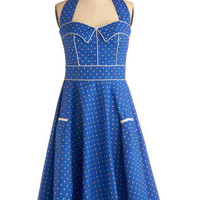 Blueberry Buckle Dress | Mod Retro Vintage Printed Dresses | ModCloth.com