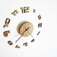 Bamboo Wall Clock by Vectorcloud on Etsy