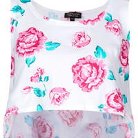 Rose Cropped Tank Top - Jersey Tops - Clothing - Topshop USA