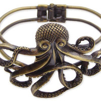 Antique Gold Octopus Bracelet