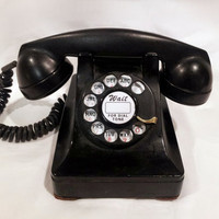WORKING Black Lucy Rotary Phone 1950s by TheRotaryShoppe on Etsy