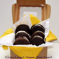 "Vegan Assorted Chocolate Love ""Voopee"" Whoopie Pie Box Perfect Birthday  Chocolate Box"