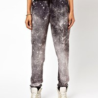 ASOS Sweatpants in Photographic Galaxy Print at asos.com
