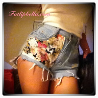 Floral low or vintage highwaist shorts