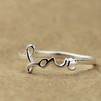 925 Silver Love Ring