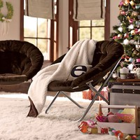 Luxe Fur Hang-A-Round Chair