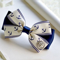 Anchor the bow hair card holder