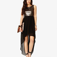 Sequined High-Low Dress