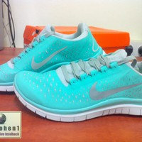 BNIB Womens Nike Free Run 3.0 V4 Size 8 (TIFF BLUE) Tropical Twist RARE