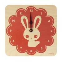 Lula Bunny Wall Clock Coral Pink (£30.00) Gorgeous, fun and quirky gifts for you and your home Hunkydory Home