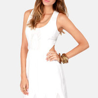 Aryn K Path Through the Park Ivory Lace Dress
