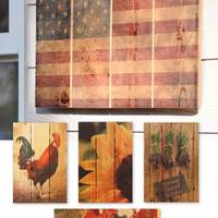 Outdoor Art, Gizaun Wall Art, Wood Paintings, Paintings on Wood | Solutions