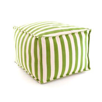 Trimaran Stripe Sprout and Ivory Pouf