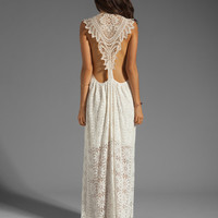 Jen's Pirate Booty Freedom Maxi Dress in Cream