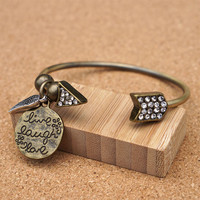 Live Laugh Love Open Bangle