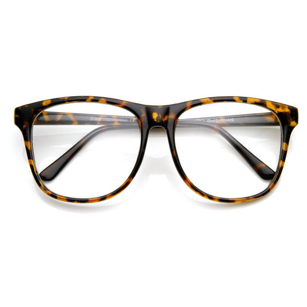 Big Frame Glasses Hipster : Retro Large Round Wayfarer Indie Hipster from zeroUV